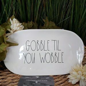 NWT HTF Rae Dunn GOBBLE TIL YOU WOBBLE Platter